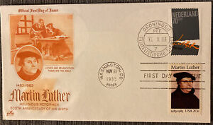 Sc 2065 Martin Luther SEV#1C1 ArtCraft variety FDC orange color Joint Issue Dual