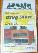 "Smalltown USA #699-6017 Drug Store (Plastic Kit) 4-1/8 x 4-1/8"" (HO Scale)"