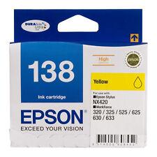 GENUINE Original Epson 138 Yellow Ink Cartridge Toner T138492 Stylus WorkForce