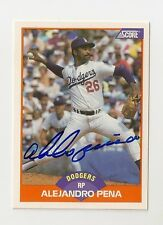 1989 SCORE ALEJANDRO PENA AUTO AUTOGRAPH CARD #389 SIGNED IN PERSON DODGERS