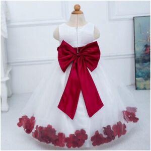 Bulk Job Lot Girls Christening Bridesmaid Dress Wedding Flower Petals Dresses
