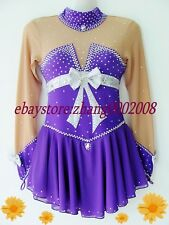 Ice skating dress.Purple Competition Figure Skating dress.Baton Twirling custome