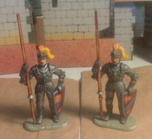 ELASTOLIN foot knights.  2 of  #8937.