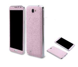 2 x Glitzerfolie Samsung Galaxy Note 2 Bling Skins Sticker FullBody Schutzfolie