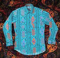 Wrangler South Western Cowboy Cut Shirt. Loud Print