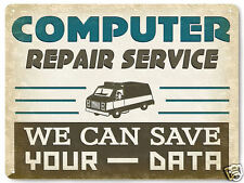 COMPUTER METAL SIGN service repair programer VINTAGE style display decor art 260