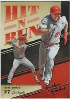 2019 Panini Leather & Lumber Hit-N-Run Insert #5 Mike Trout Angels
