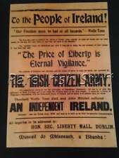 Irish Citizens Army Recruitment Poster - 1913 ( IRA ) - People of Ireland Print
