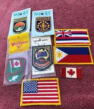 Vintage Country & State Patches (Lot Of 8) USA, Canada, Australia, Indiana, More