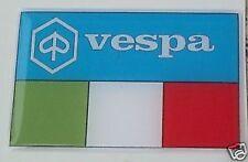 2 VESPA 3d italian flag stickers scooters px lx gts gtv