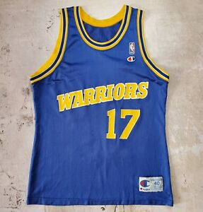 Vintage Champion NBA Jersey Golden State Warriors Chris Mullen #17 size 40
