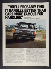 1980 Volvo GT Scotti Driving School photo vintage print Ad