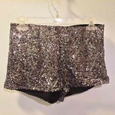 Alythea Silver Sequin Sexy Club Dance Shorts Hot Pants Sz S (0-2)