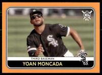 2020 Big League Base Orange #225 Yoan Moncada - Chicago White Sox