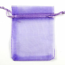Lots 100Pcs Organza Gift Bag Jewelry Pouch Wedding Favor 7x9cm/10x12cm