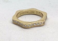 MONTBLANC 4810 Diamond 18K Yellow Gold Engagement Ring – Size 52