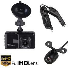 Hd 1080P 3'' Car Dvr Dual Lens Rearview Dash Cam Video Recorder Camera G-sensor