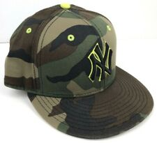 New York Yankees Camo 7 1/4 Fitted Hat 59 fifty Green Camoflauge  MLB