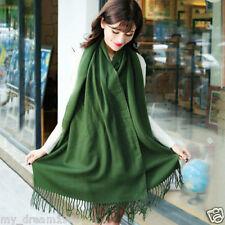 Fashion Women's Green Winter Warm Soft 100% Cashmere Pashmina Shawl Scarf Wrap