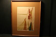 """Charles Li Hidley, ( American 1921-2003 ),"""" Standing Nude """", Signed Gouache 1951"""