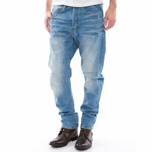 """G-Star Raw Mens Type C 3D Loose Tapered Jeans 30"""" x 32"""" BNWT Re Denim Light Aged"""