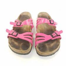 Birkenstock Birkis Granada Hot Pink Double Strap Slide Sandals Shoes Size 8