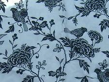 NEW Robert Kaufman floral bird fabric material. Patchwork skirt quilting crafts