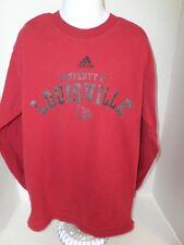 Youth Red Long Sleeved Adidas Louisville Cards T-Shirt size-M 10/12 100% Cotton
