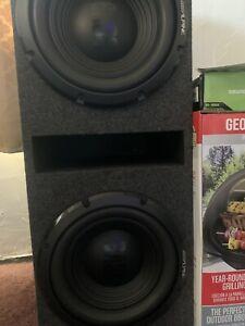 alpine speakers With Custom Box And 2500watt Tuned Amp