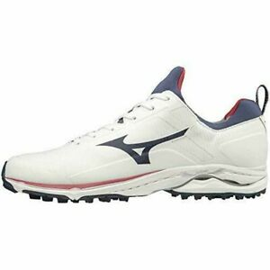 MIZUNO Golf Shoes WAVE CADENCE Wide Spikeless 51GM1970 White Navy US11(29cm)UK10