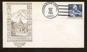 1982 Timberline Lodge Oregon Franklin D Roosevelt Event Cover US Stamp #1950