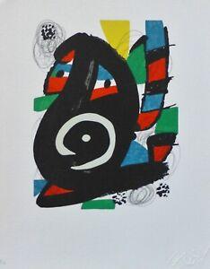 "Joan Miro ""La Melodie Acide"" 14 signed LITHOGRAPH 1980"