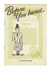 Vintage 1950s Booklet Before You Invest Warning About Swindlers Great Graphics