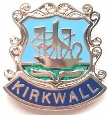 Kirkwall Scotland Small Enamel Lapel Pin Badge (T055)