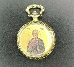 JOHN THE BAPTIST Religious Antique Watch Mechanical Roman Numerals Quartz Gold