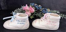 Personalized Ceramic Baby Shoe Bootie Keepsake Newborn Baptism Birthday