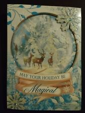 Punch Studio Christmas Card May Your Holiday Be Magical Snowglobe Design