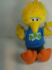 "Hasbro 2010 Sesame Street Talking Bid Bird Plush Doll Stuffed Animal Toy 14"""