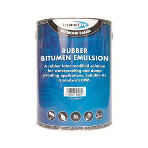Bitumen Emulsion Rubber Liquid DPM DPC Damp Proof Proofing Paint 5L