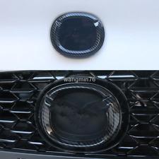 ABS Carbon fiber Front/Rear Emblem Badge Logo cover trim For Mazda 3 2019 2020