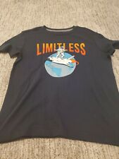 """Old Navy Boys Navy Blue Spaced Theme """"Limitless"""" T Shirt - Size S (6-7)"""
