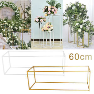 60cm Metal Geometric Flower Rack Wedding Art Column Vases Stand Party Detachable