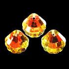 3Pcs+Faceted+Yellow+Titanium+crystal+Shell+Pendant+Bead+18x18x7mm+F89747