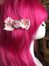 Tarina Tarantino Bambino Hello Kitty Pink Head Swarovski Hair Bow Barrette Clip