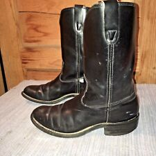 MASON 7D leather western cowboy boots biker motorcycle work Black