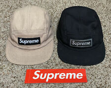 2 AUTHENTIC SUPREME NEW YORK 5 Panel Camp Caps W/ Sticker