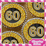 24 x GOLD DIAMOND 60TH BIRTHDAY EDIBLE CUPCAKE TOPPERS RICE PAPER KG060-24