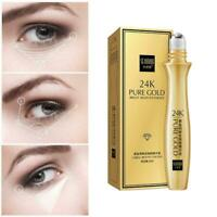 15ml Gold Roll-on Eye Serum Dark Circles Wrinkle Removal Care Moisturizing I1O1