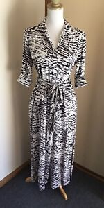 Witchery Maxi Shirt Dress Size 10 - Black & White