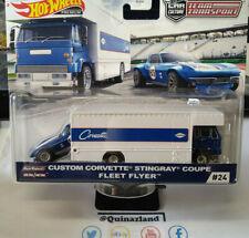 Hot Wheels Team Transport Custom Corvette Stingray Coupe Fleet Flyer  #24